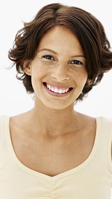 sorriso para aliviar as tensões mulher
