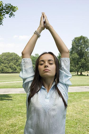 Respiração mulher ansiedade e estresse