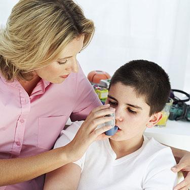 Mães estressadas filhos con asma