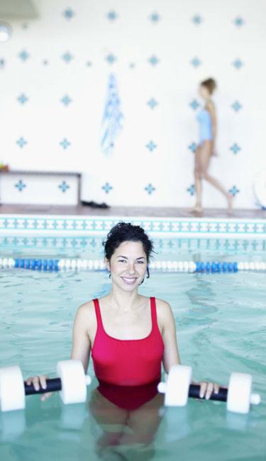 A hidroginástica é uma versão da aeróbica na água