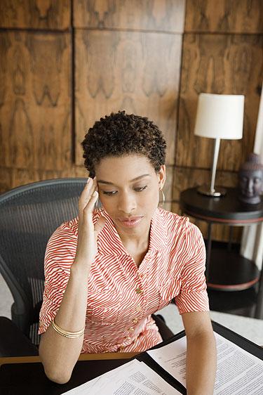 mulher com estresse